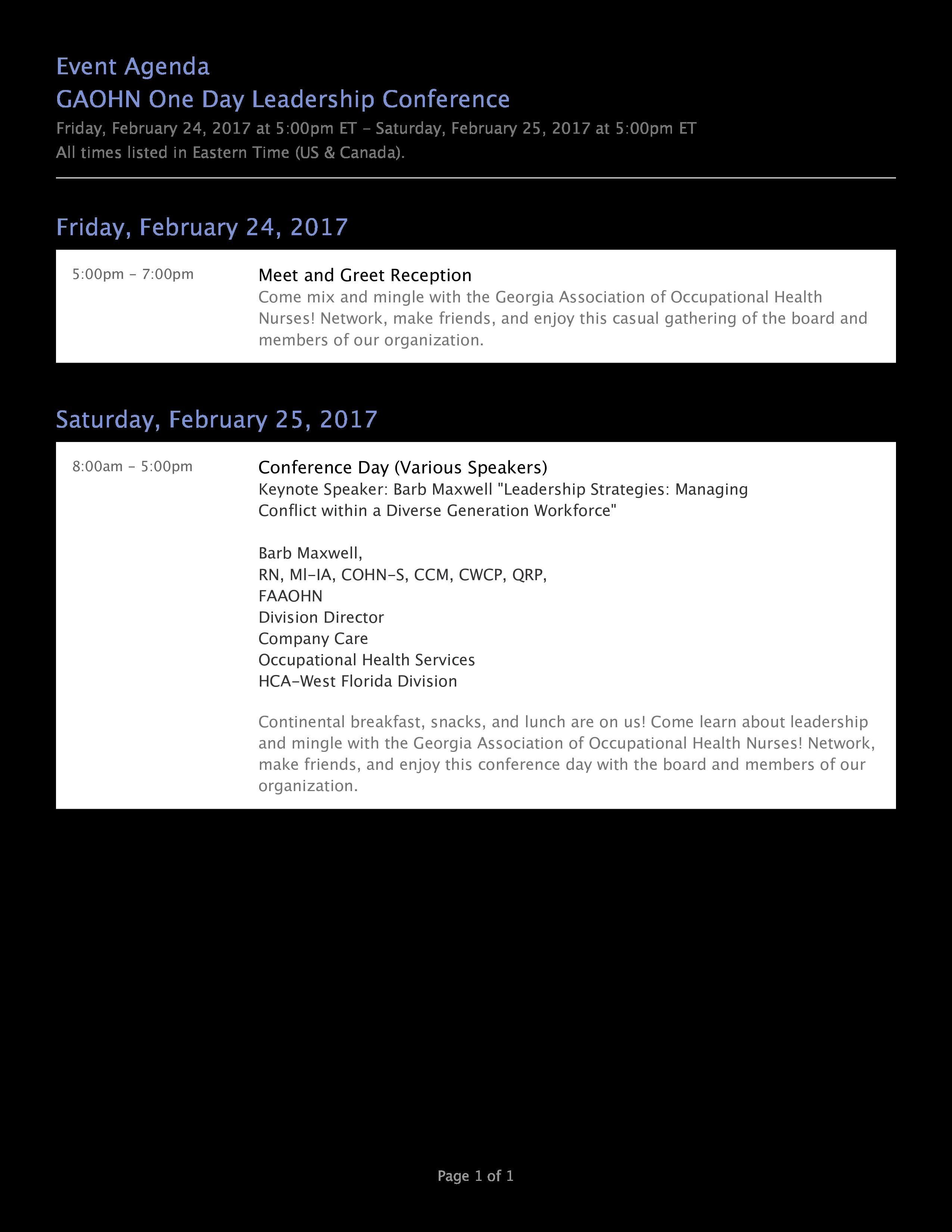Leadership Event Agenda | Templates at