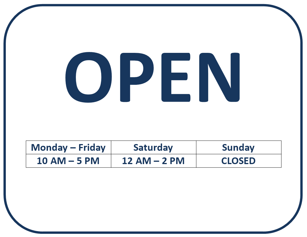 Free we 39 re open sign templates at for Open closed sign template