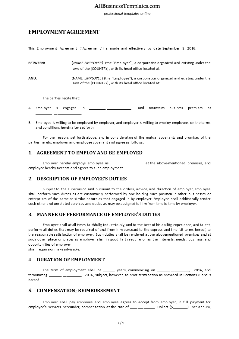 Employment Agreement main image