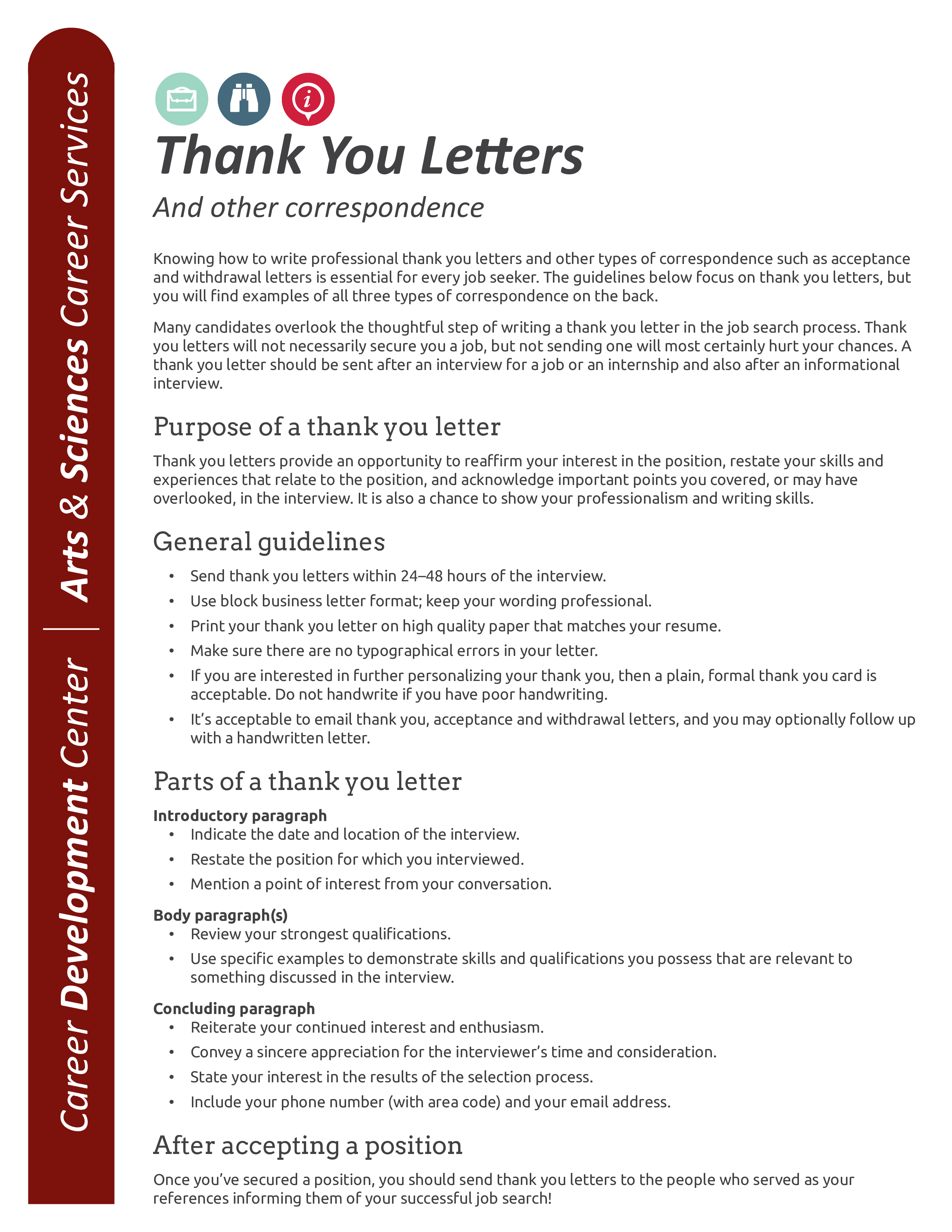 Free Professional Internship Thank You Letter Templates At