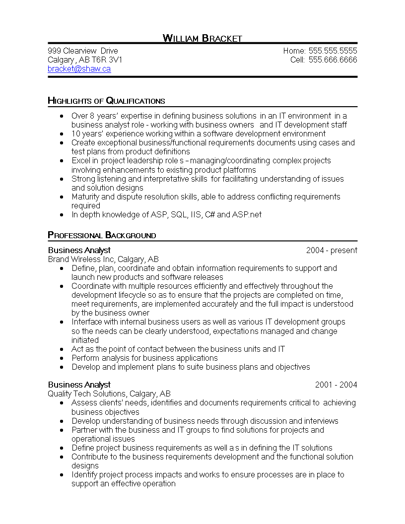 Free business analyst cv templates at allbusinesstemplates business analyst cv main image download template wajeb Choice Image