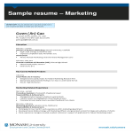 template topic preview image Digital Marketing Associate Resume template