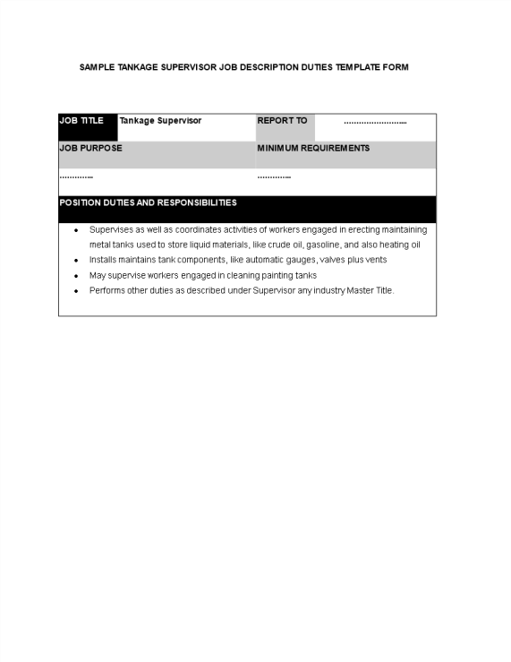 template topic preview image Tankage Supervisor Job Description