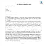 template topic preview image COO Appointment Letter