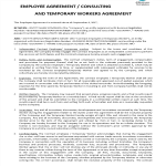 image Employee Agreement Template