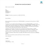 image Promotion Announcement Letter