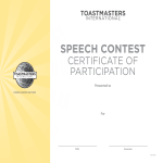 template topic preview image Participant Speech Contest Certificate