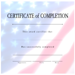 template topic preview image Certificate Of Completion USA project