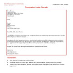 template topic preview image Basic Formal Resignation Letter