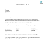 template topic preview image Medical Referral Letter