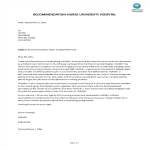 template topic preview image Sample Recommendation Letter For Employment Nurse