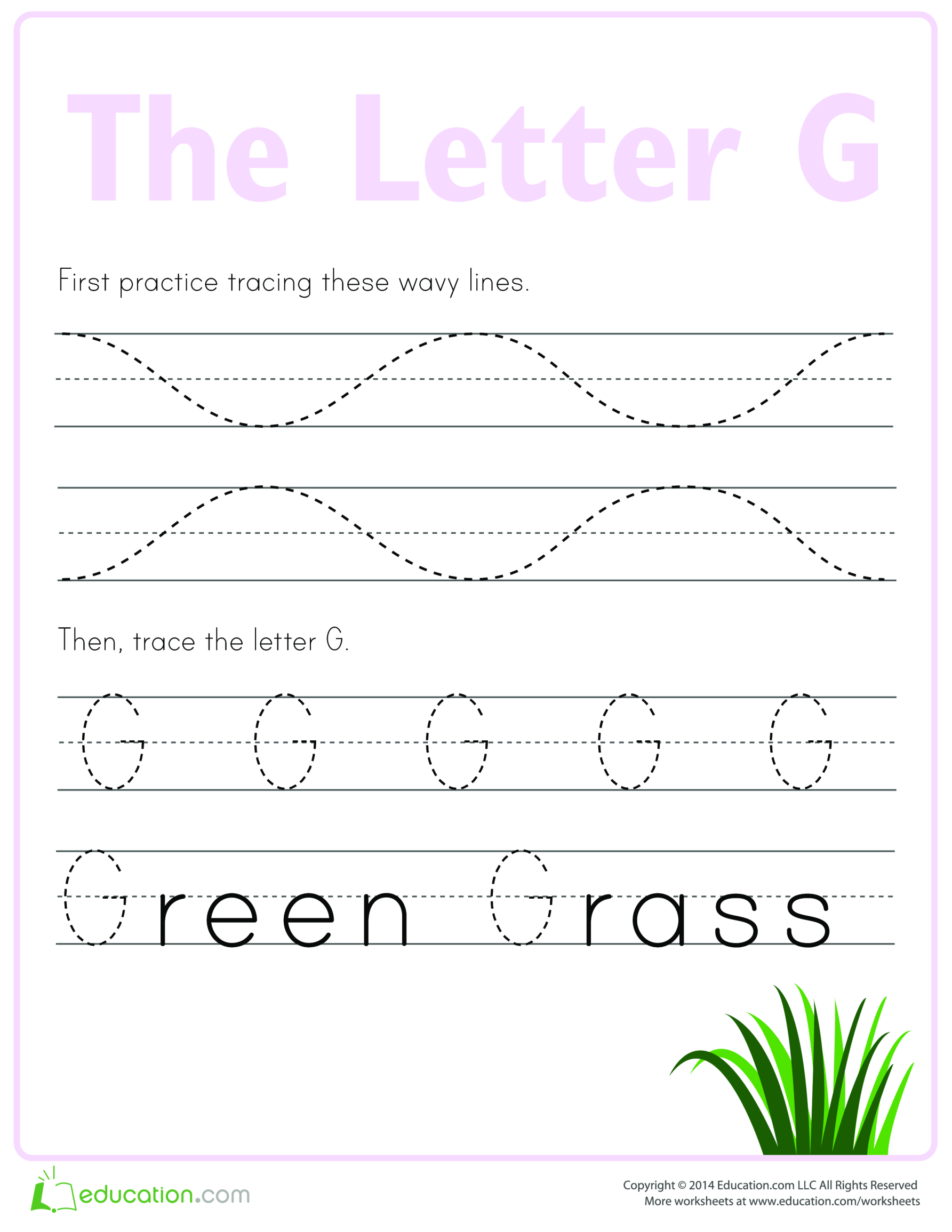 template topic preview image Practice to write letter G