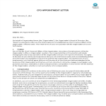 template topic preview image CFO Appointment Letter
