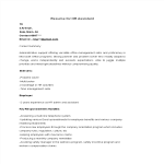template topic preview image HR Assistant Resume Format