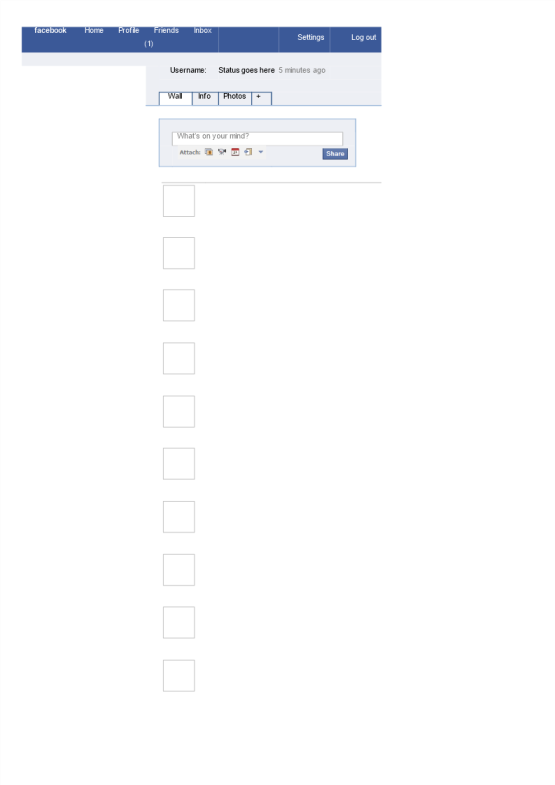 template topic preview image Empty Facebook Page