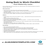 template topic preview image Back to work checklist Maternity leave
