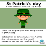 template topic preview image St Patricksday Event Invite