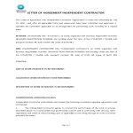 image Letter Of Agreement Independent Contractor for Service