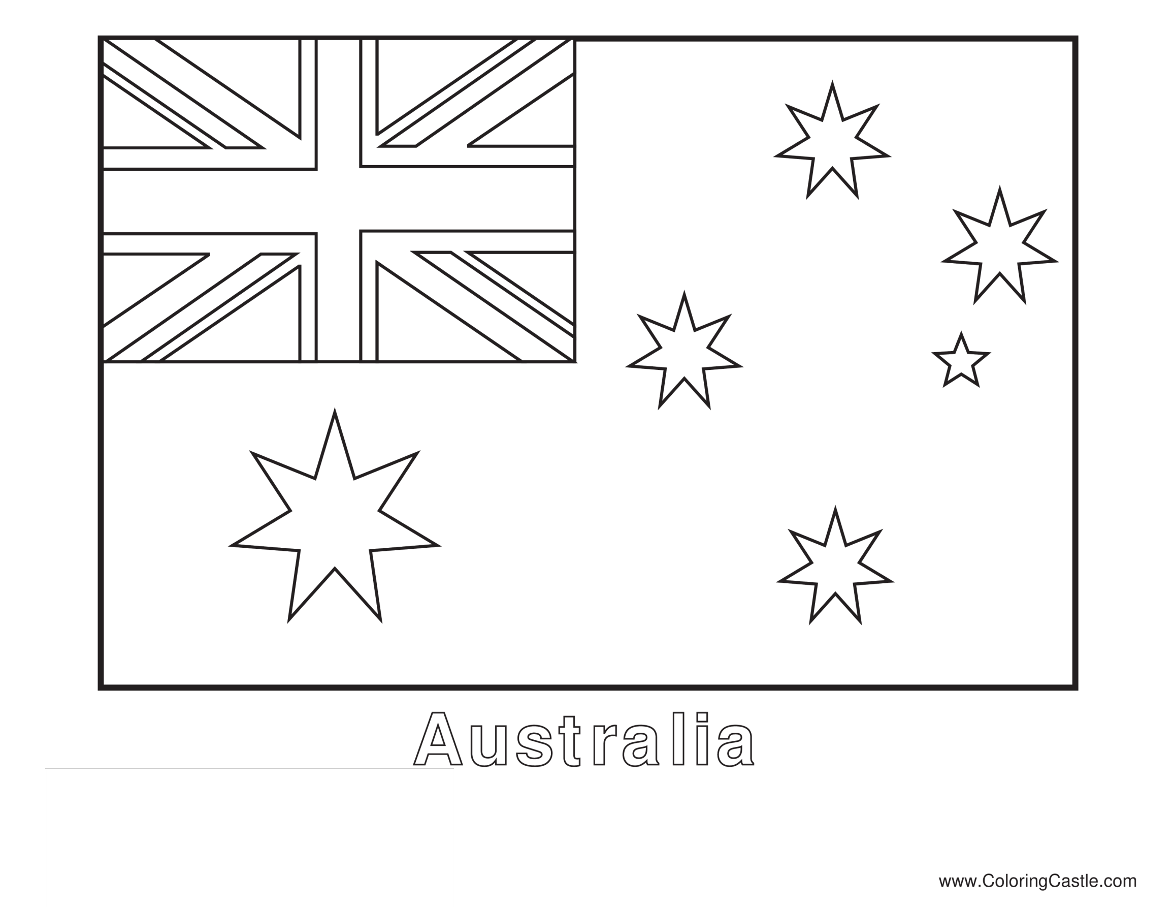 template topic preview image Colorsheet Flag Australia