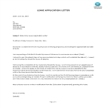template topic preview image Maternity Leave Application Letter Sample