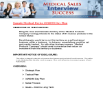 template topic preview image Medical Device Sales Plan Format