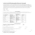 template topic preview image Entry Level Photographer Resume
