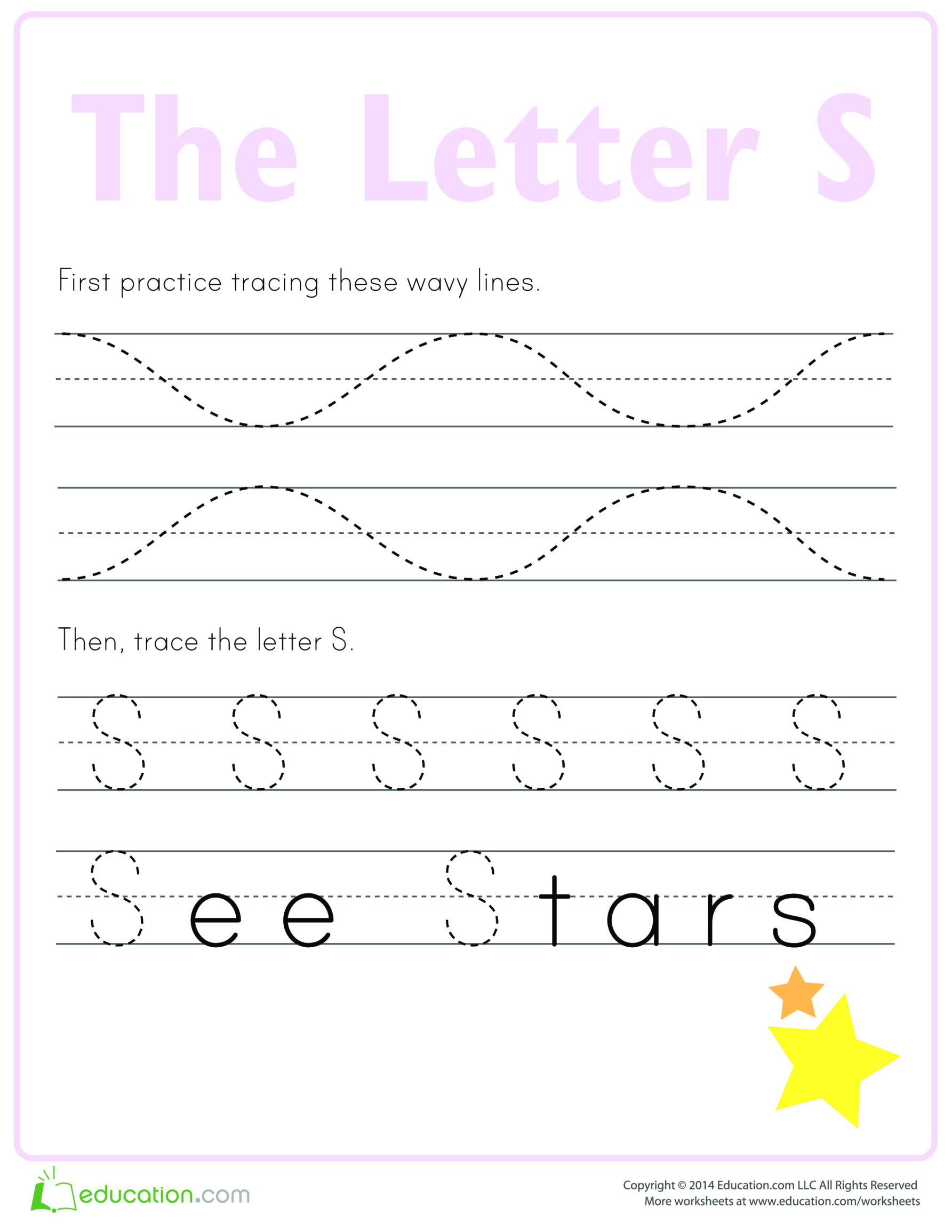template topic preview image Learn to write letter S