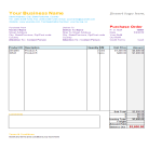 template topic preview image Purchase Order template in excel