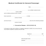 template topic preview image COVID19 Medical Certificate Fit to Fly