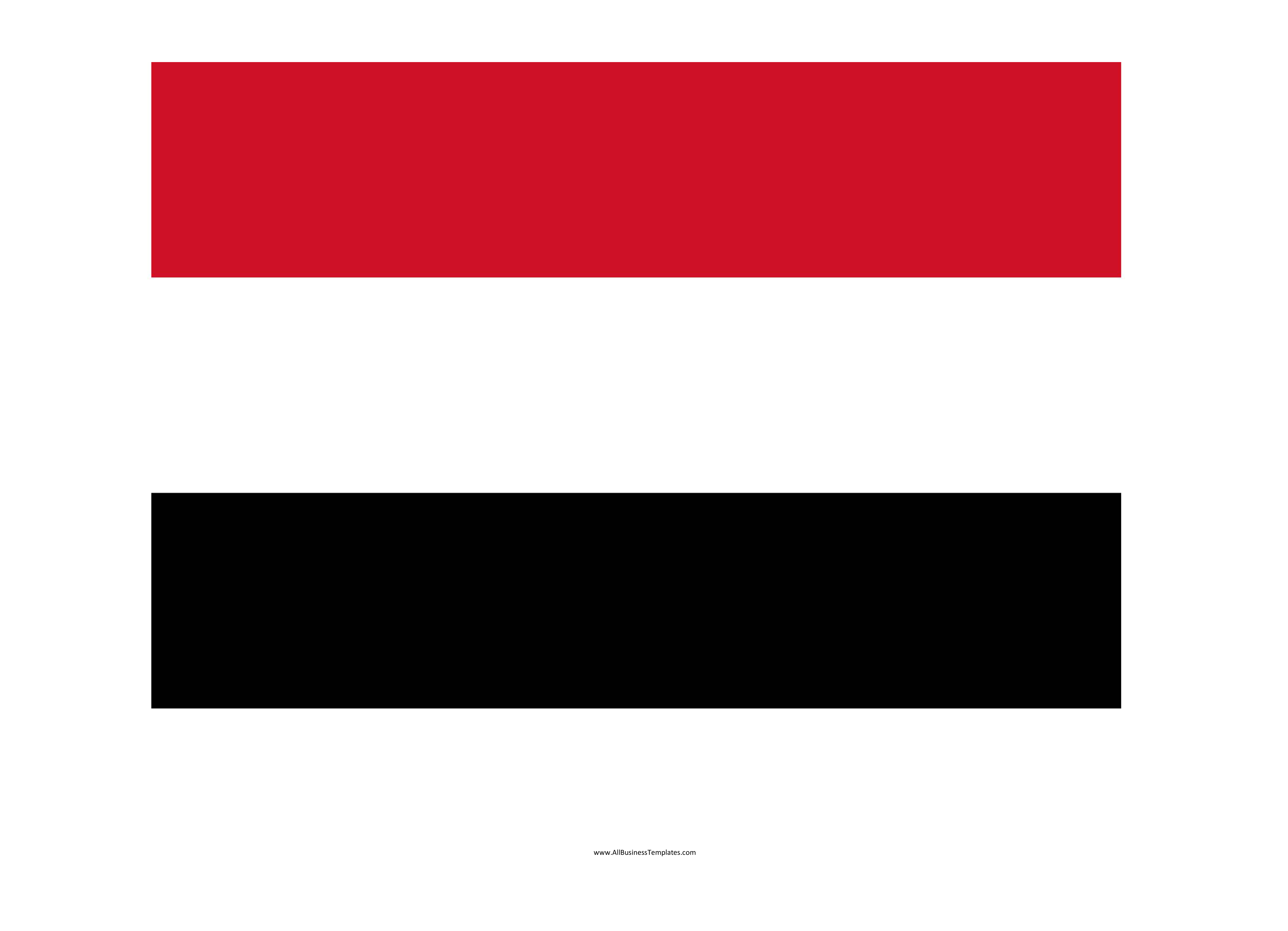 template topic preview image Yemen printable flag