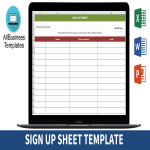template topic preview image Sign Up Sheet Form