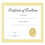 template preview imageCertificate of Excellence