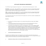 template topic preview image Affiliate Program Agreement