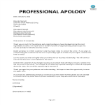 template preview imageBusiness Formal Apology Letter