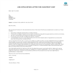 template topic preview image Job Application Letter For Assistant Chef