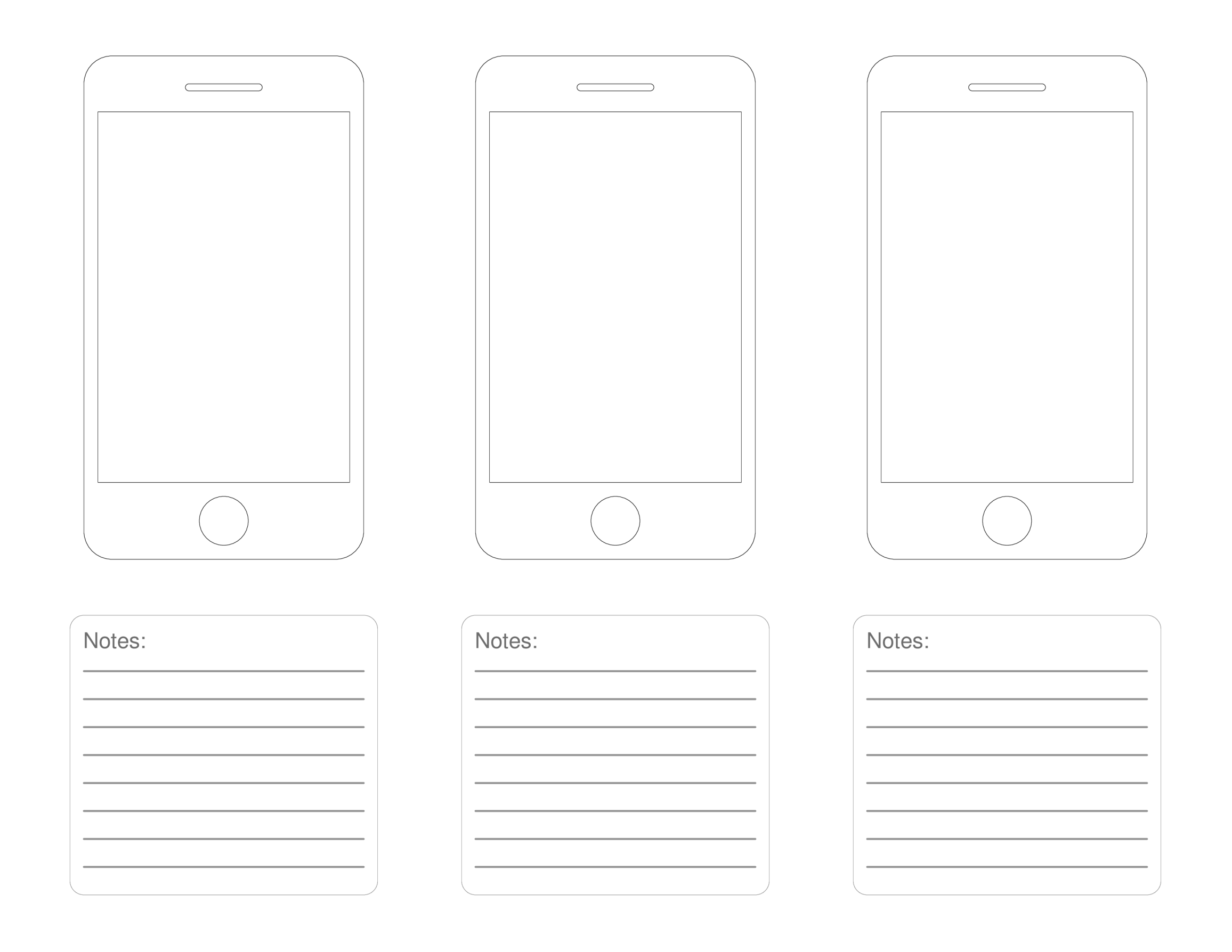 template topic preview image IPhone Mobile Apps design template