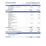 template topic preview image Company Income Statement Excel