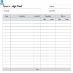 template topic preview image Ledger Paper Template Excel