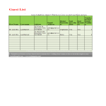 template topic preview image Wedding Guest List Template in excel