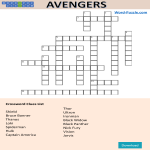 template topic preview image The Avengers Crossword