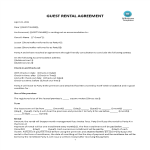 image AIRBNB Guest Short Term Rental Agreement