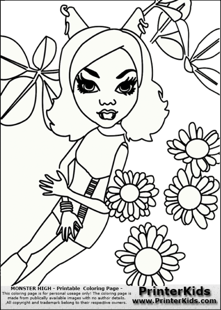 template topic preview image Pretty Lady With Flowers Coloring Page