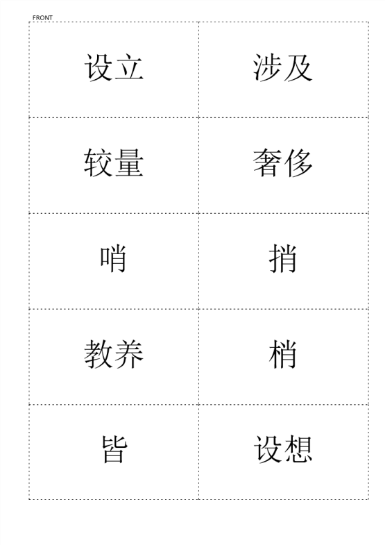 template topic preview image Premium Chinese HSK Flashcards level 6 part 7