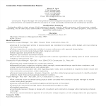 template topic preview image Construction Project Administration Resume