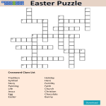 template topic preview image Crossword Puzzle Easter