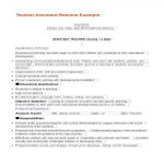 template topic preview image Teacher Assistant Resume Objective
