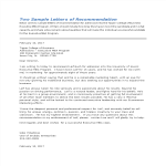template topic preview image Sample Graduate College Recommendation Letter