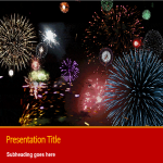template preview imageAnimated Fireworks Powerpoint Chinese New Year