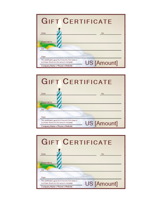 template preview imageBirthday Gift Voucher Word Template