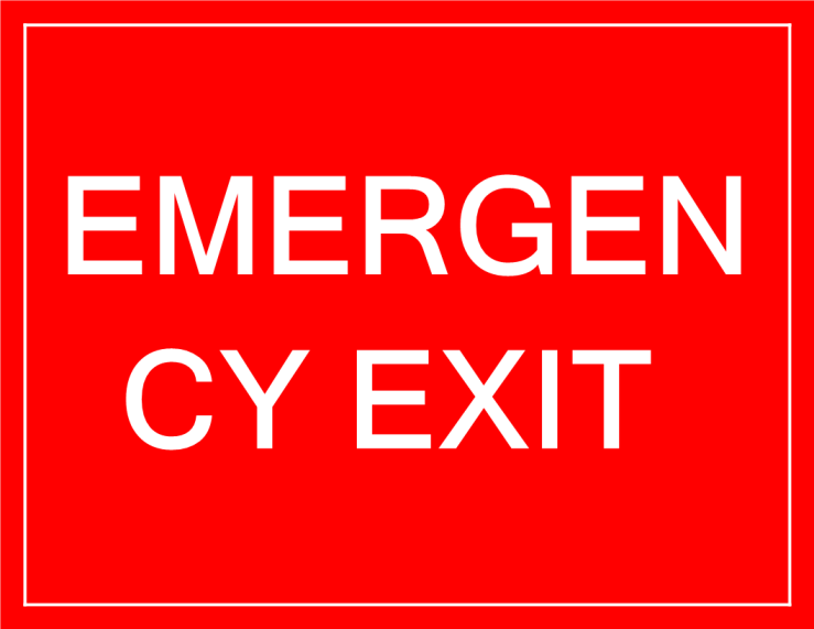 template topic preview image Temporary Emergency Exit Only Sign